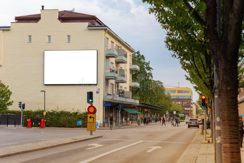 Blank billboard mock up. royalty free stock photos