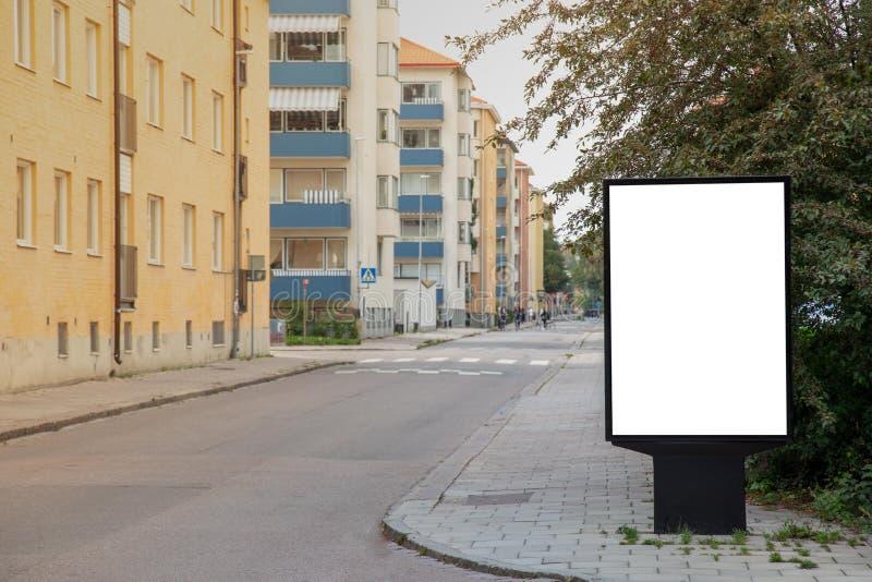 Blank billboard mock up. royalty free stock photo