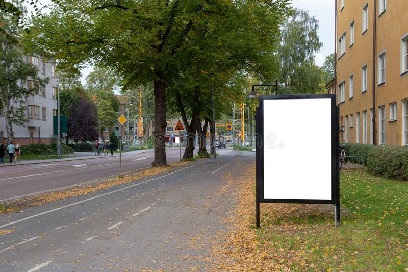 Blank billboard mock up. royalty free stock image