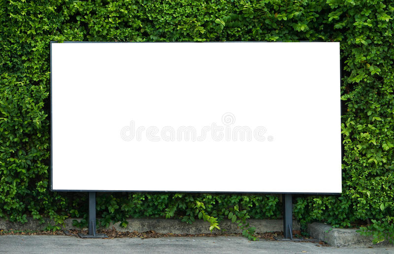 Blank billboard mockup template for advertisement present royalty free stock image