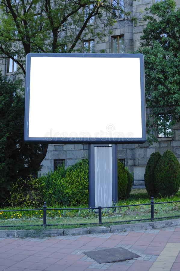 Blank billboard and outdoor advertising stock photos