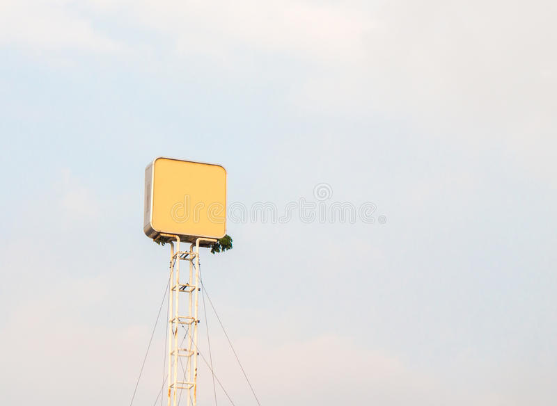Blank billboard for outdoor advertising poster or blank billboard at day time for advertisement. Roadside royalty free stock image