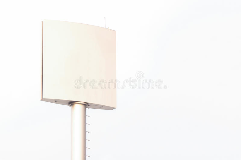 Blank billboard for outdoor advertising poster or blank billboard at day time for advertisement. Roadside royalty free stock photos
