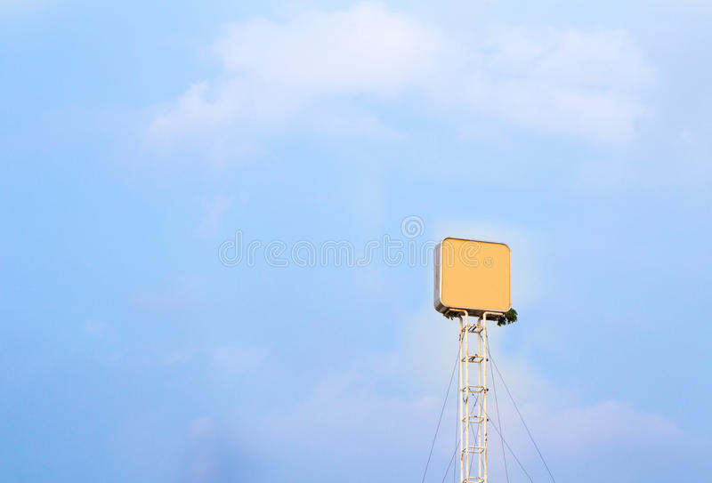 Blank billboard for outdoor advertising poster or blank billboard at day time for advertisement. Roadside stock image