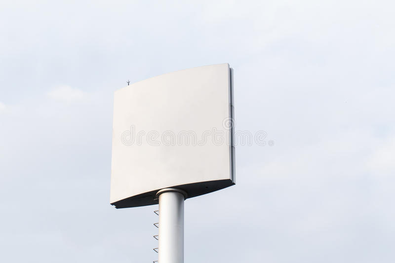 Blank billboard for outdoor advertising poster or blank billboard at day time for advertisement. Roadside royalty free stock photo