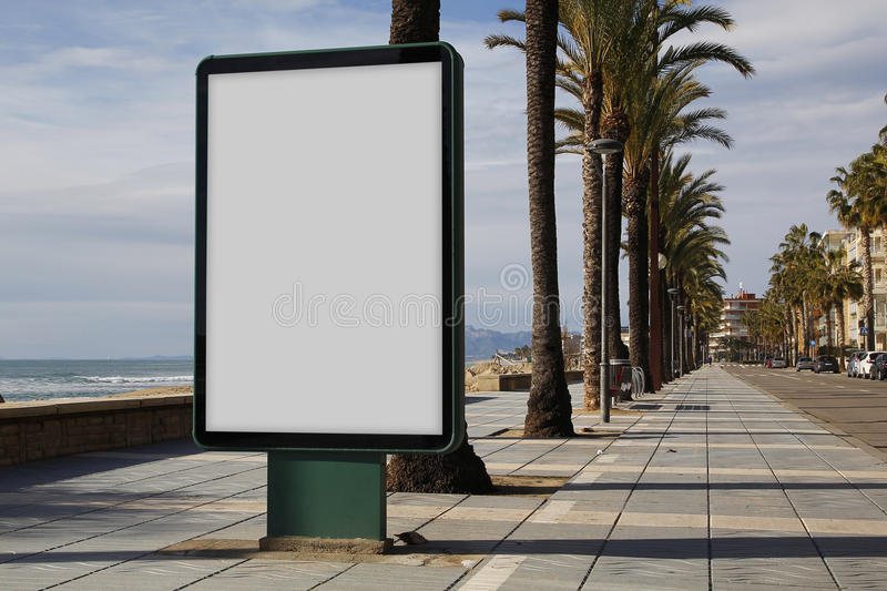 Blank billboard outdoors royalty free stock images