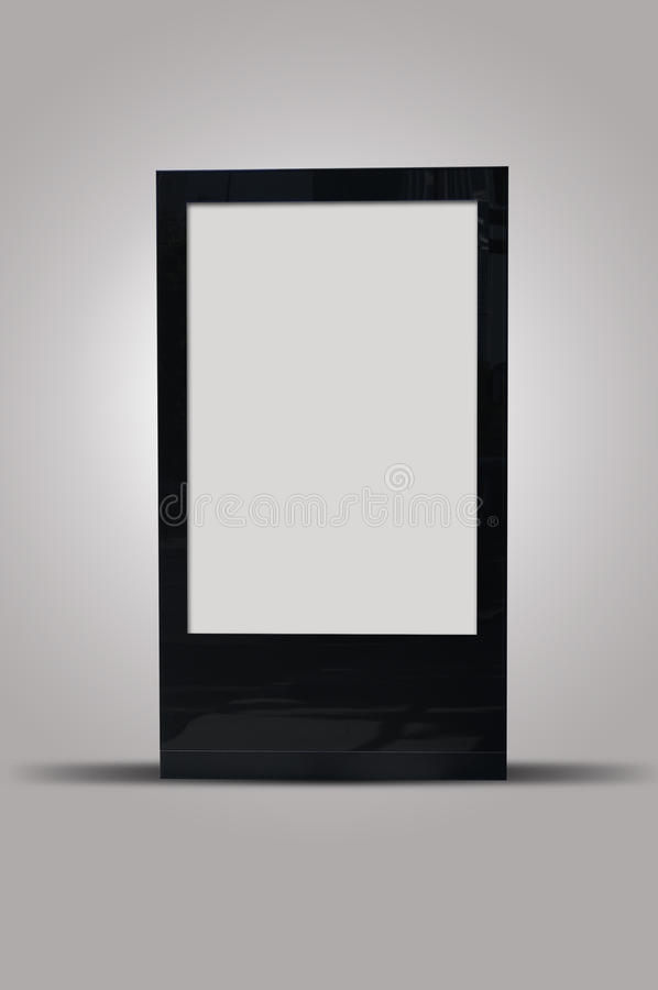 Blank billboard outdoors, outdoor advertising royalty free stock image