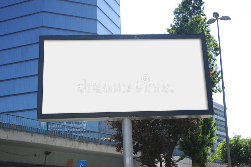 Blank billboard outdoors, outdoor advertising stock photos