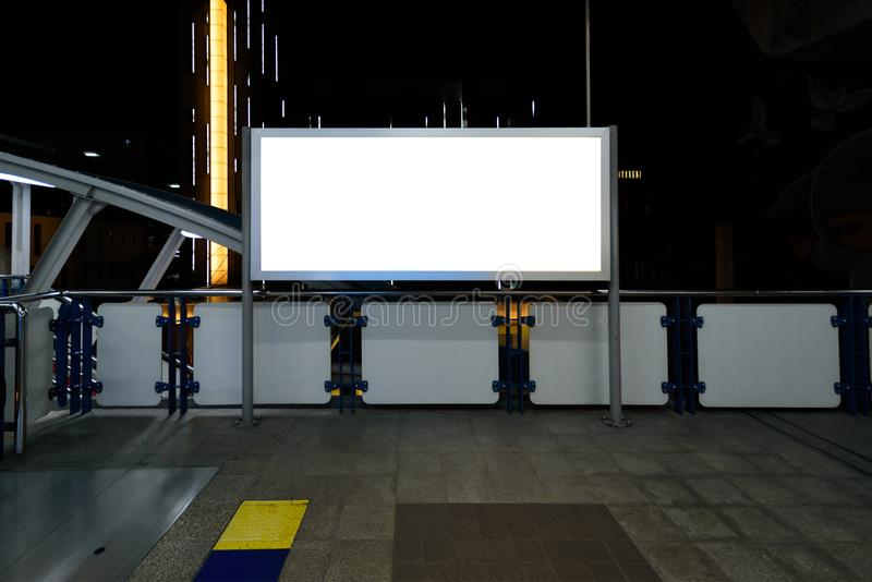 Blank billboard or poster for advertising. Blank billboard or poster for advertising stock image