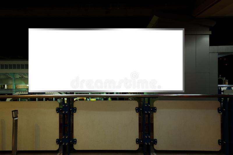 Blank billboard or poster for advertising.  royalty free stock photos