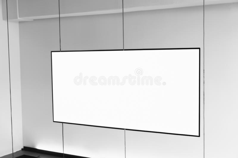 Blank billboard poster in the department store, with copy space for advertising message.  royalty free illustration