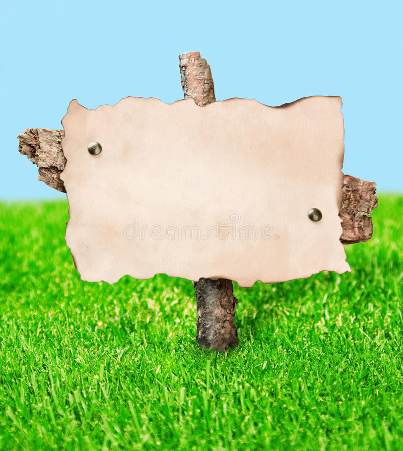 Download Blank Billboard Stands In A Field Stock Illustration - Image: 25087515