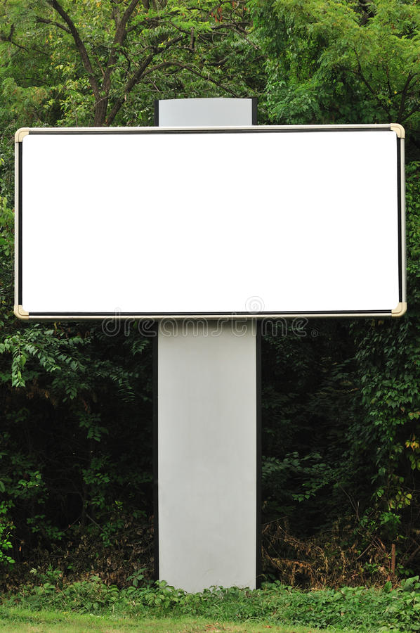 Blank Billboard And Trees Stock Images