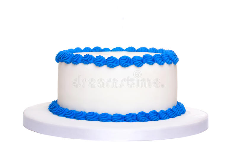 Blank birthday cake. Ready for decoration stock photography