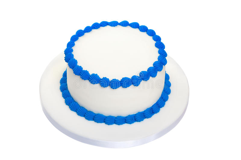 Blank birthday cake. Ready for decoration royalty free stock photography
