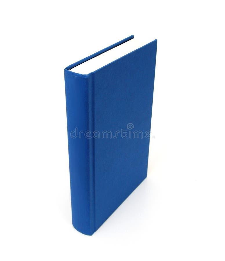 Blank blå hardbackbok royaltyfria foton