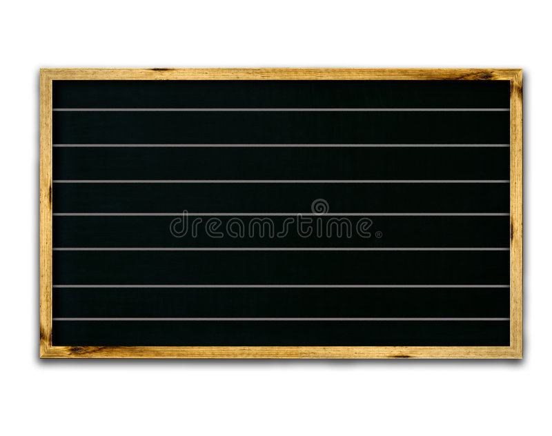 Blank black. Chalk board with wood frame isolated over white with a clipping path vector illustration