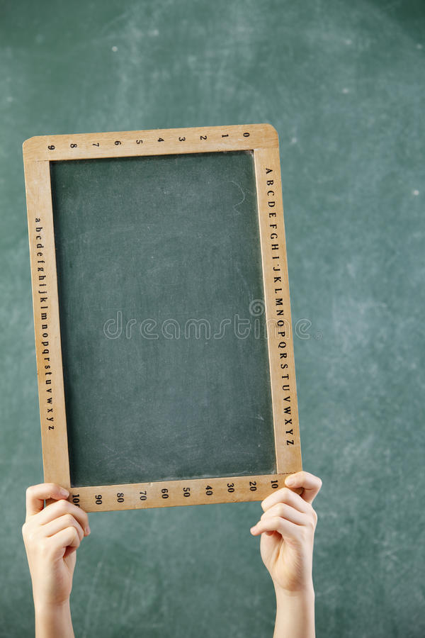 Download Blank black board stock image. Image of copy, child, expressing - 19067483
