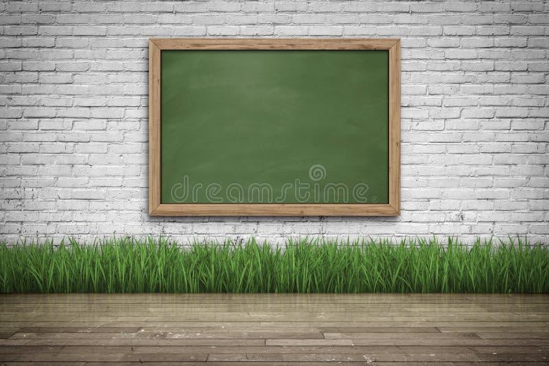 impactful wooden floor with a blackboard 18