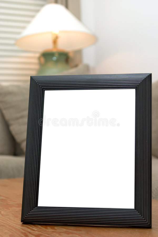 Download Blank black picture frame stock photo. Image of photo - 1739568