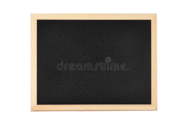 Blank Black School or Restaurant Chalkboard with Wooden Frame royalty free stock image