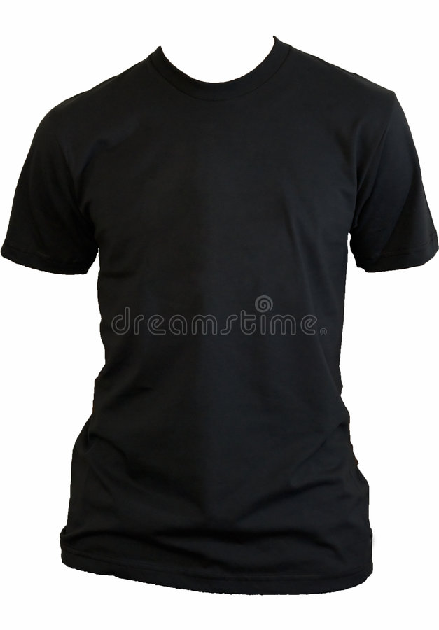 Blank black tshirt royalty free stock image