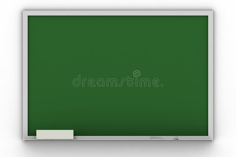 Blank blackboard. Isolated blank blackboard on white vector illustration