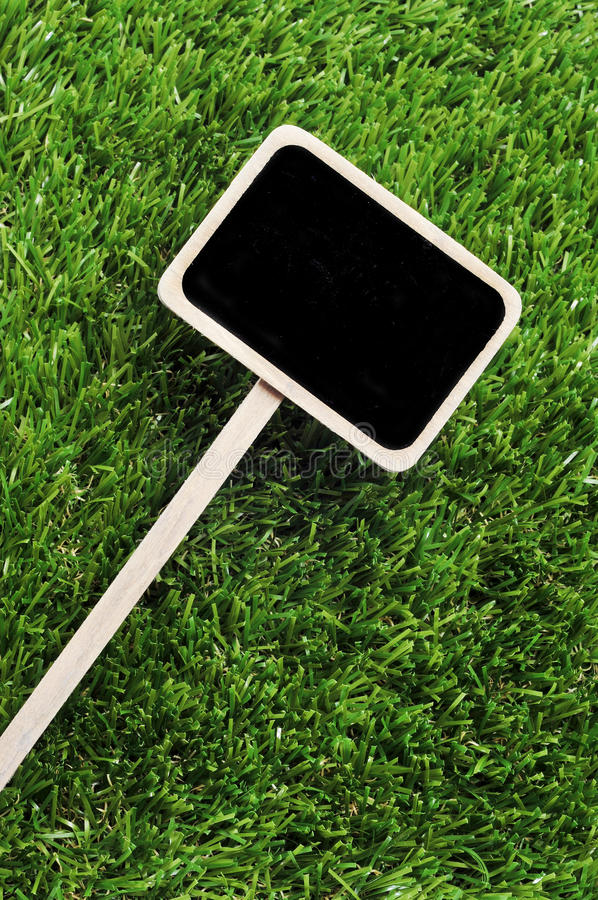 Download Blank Blackboard Label On The Grass Stock Photo - Image: 21149132
