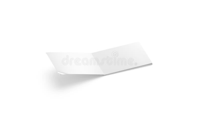 Blank blanco abrió una maqueta de álbum5, vista lateral, ilustración del vector