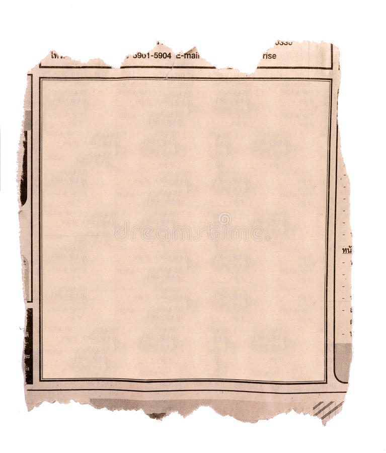 Blank block of old newspaper advertise royalty free stock images