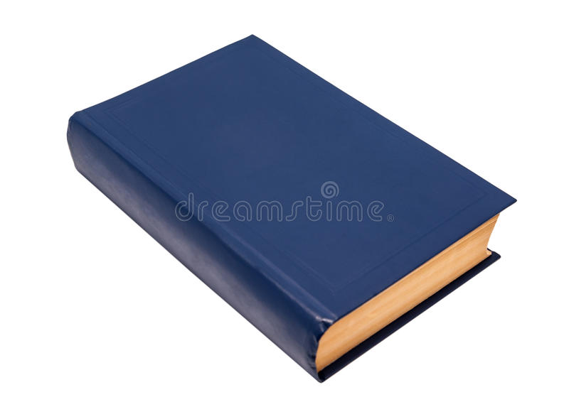 Blue Cover Cookbook : Blank blue book cover stock image of education