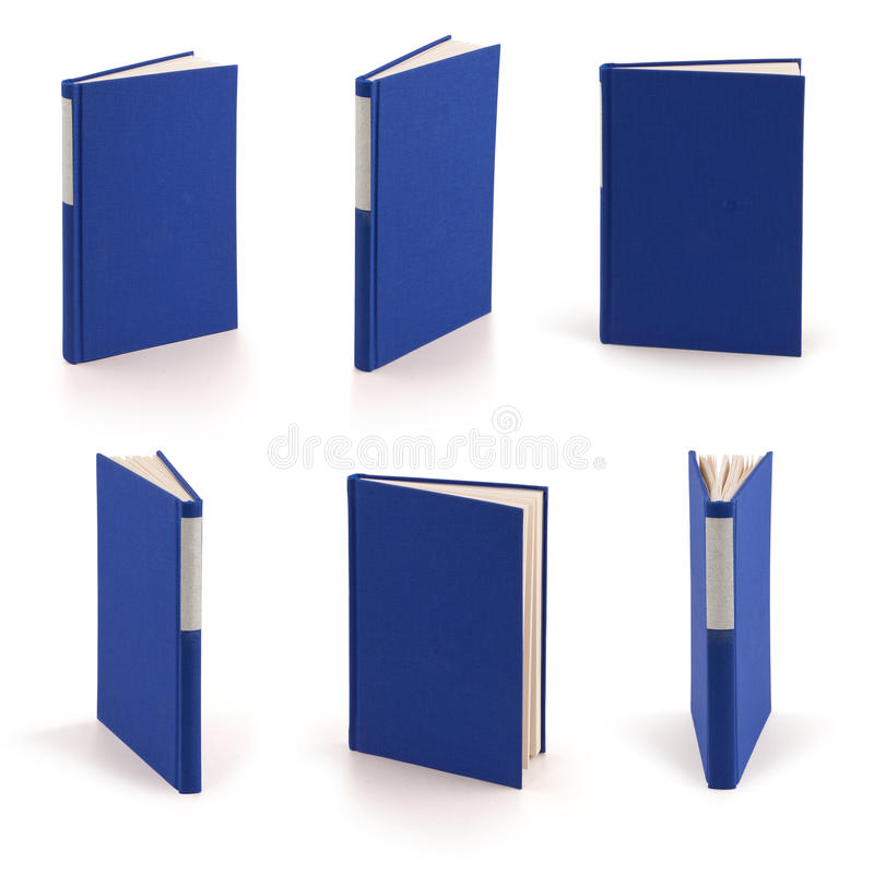 Blank blue book - clipping path royalty free stock photos