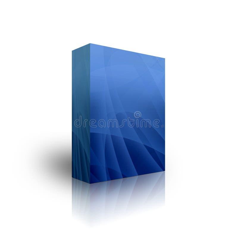 Blank Blue Box Template Stock Image