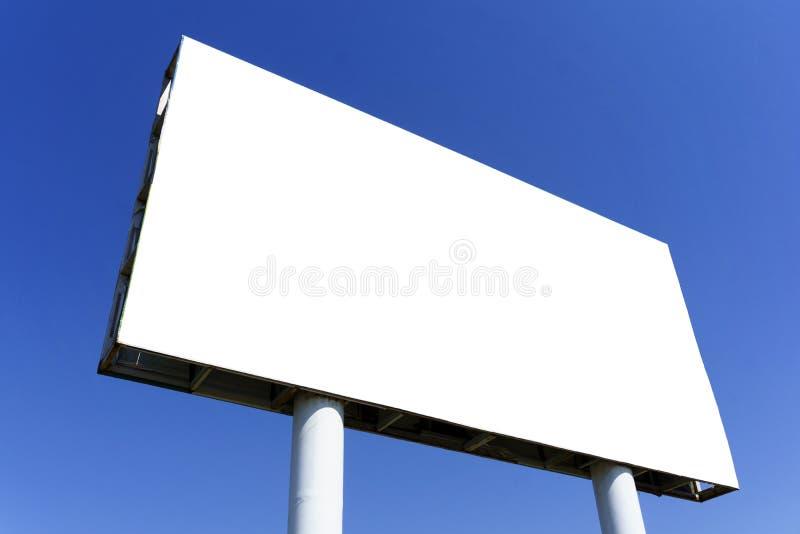 blank blue för affischtavla över skyen arkivbilder