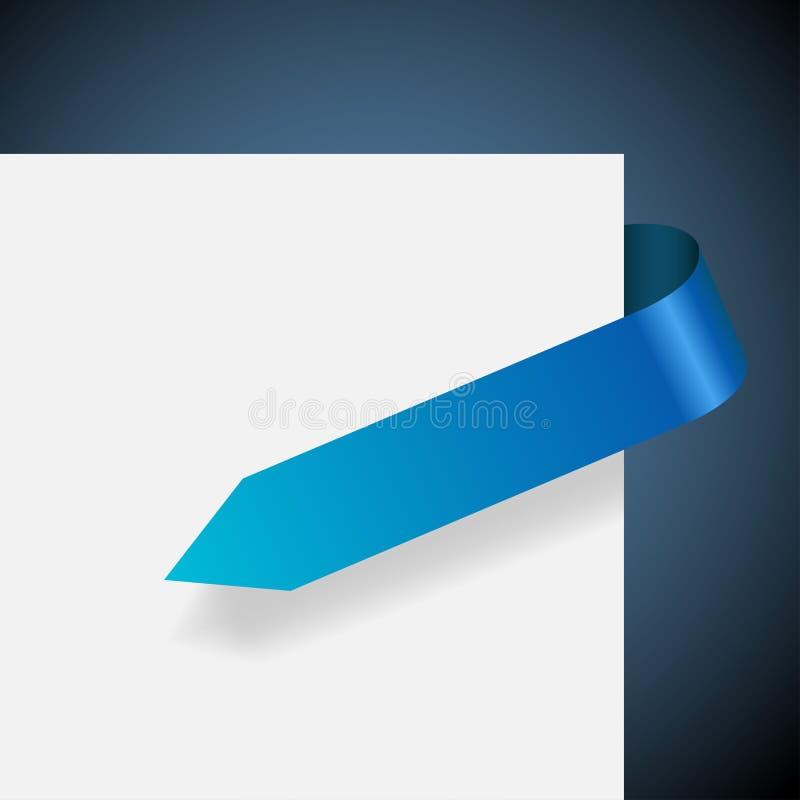 Blank blue label vector illustration