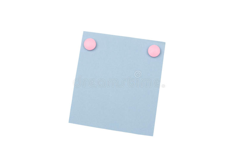 Blank Blue Note With Magnet Stock Images