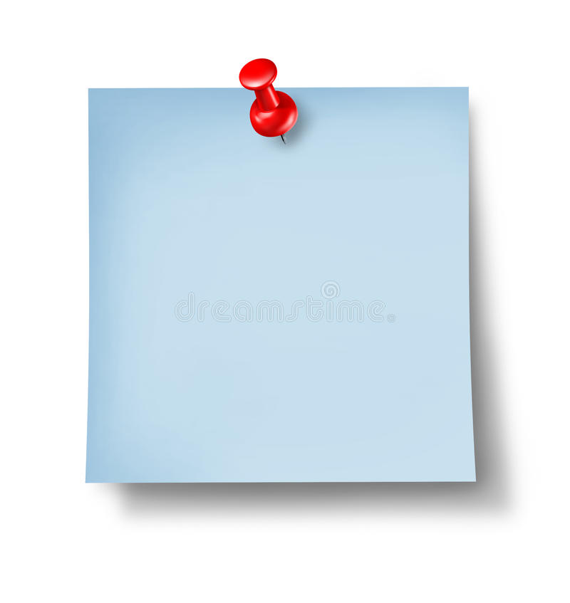 Download Blank Blue Office Note stock illustration. Image of business - 24696769