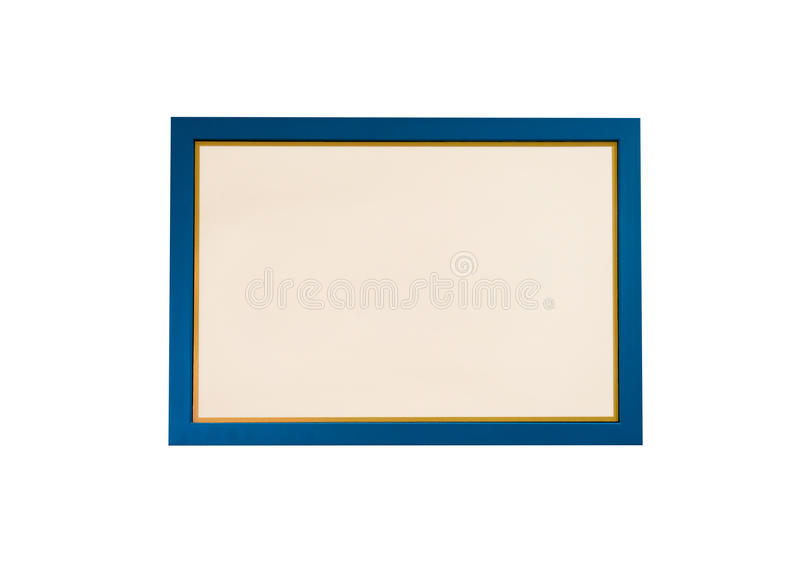 Download Blank Blue Wooden Frame Isolated Stock Photo - Image: 93751416