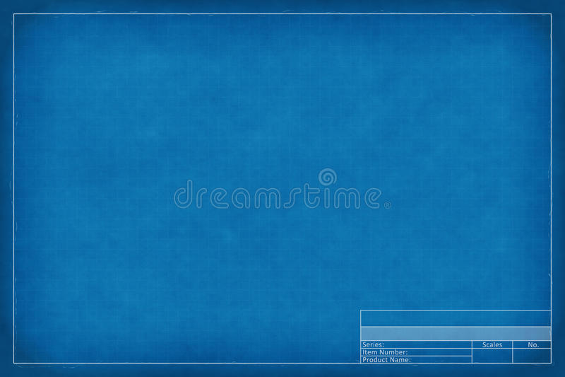 Blank blueprint royalty free illustration