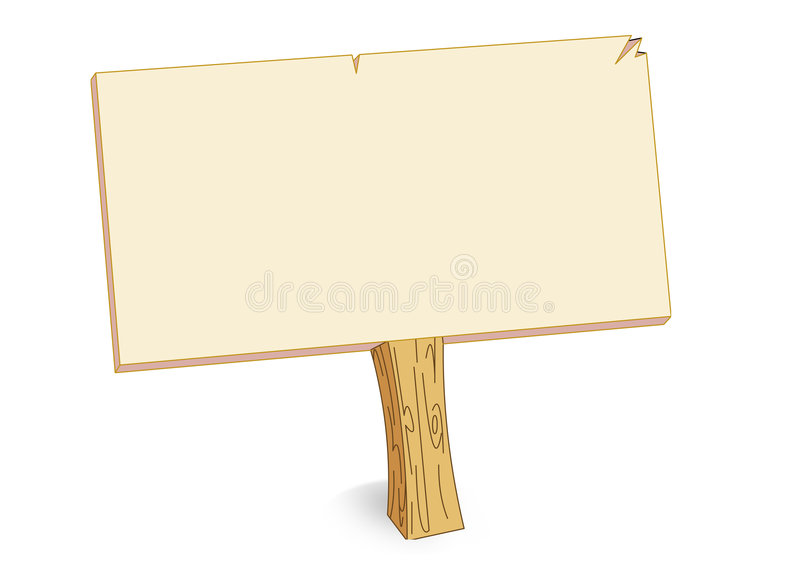 Blank board vector illustration