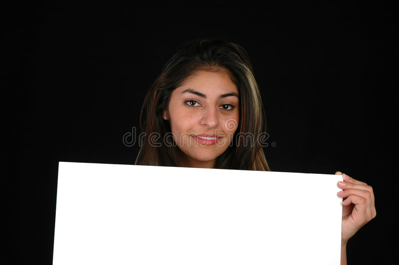 Download Blank board-5 stock photo. Image of casual, lady, beauty - 60764