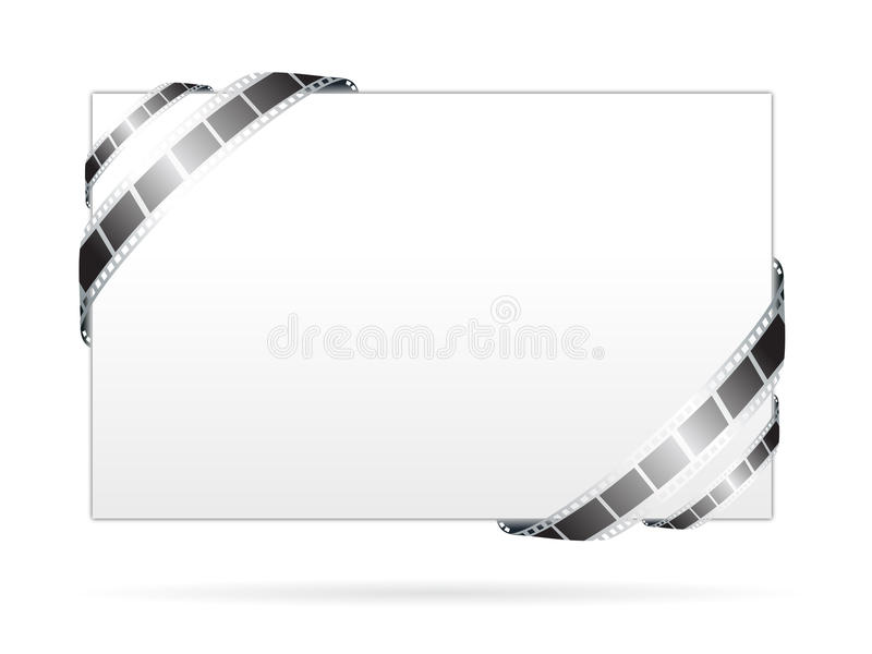 Blank board with movie film frame royalty free illustration
