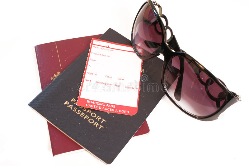 Blank boarding pass stock photos
