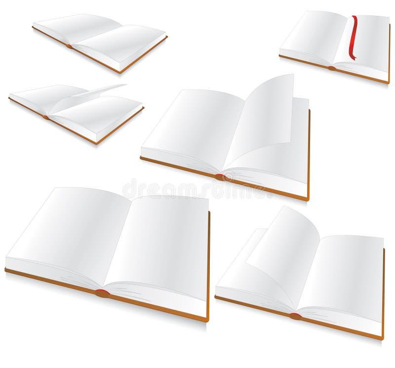 Blank book vector illustration