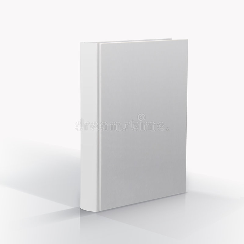 Blank book. Closed blank book on the white background