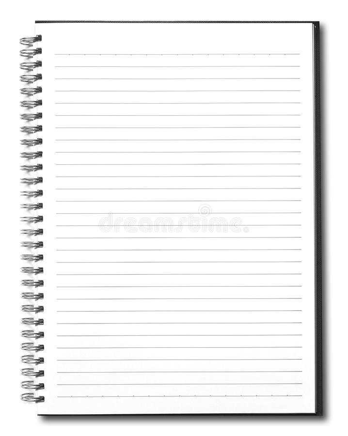 Blank book with black cover royalty free stock images