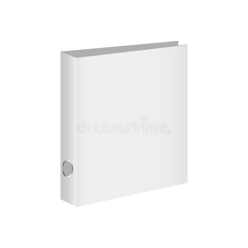 Blank book cover, binder or folder templates. Vector illustration royalty free illustration
