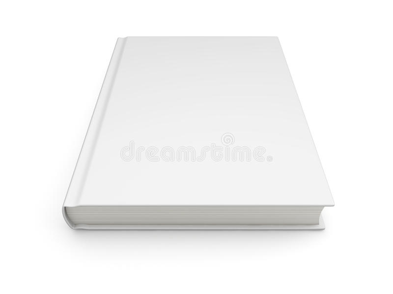 Blank book cover royalty free illustration