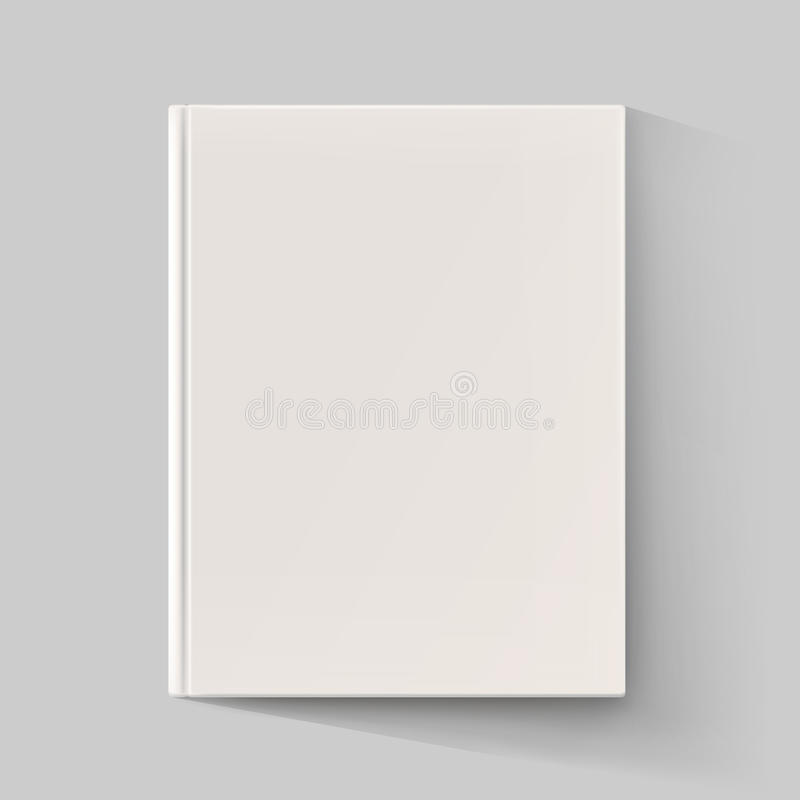 Blank Book Cover Vector Illustration Free : Blank book cover with long shadow vector illustration