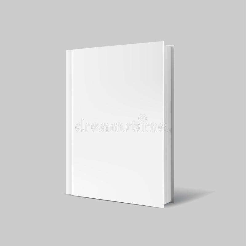Blank book cover over gray background vector illustration